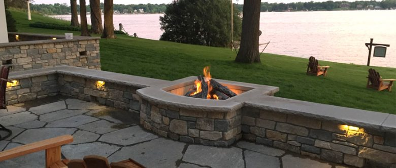 Landscape Design Lake Minnetonka Outdoor Patio Fireplace