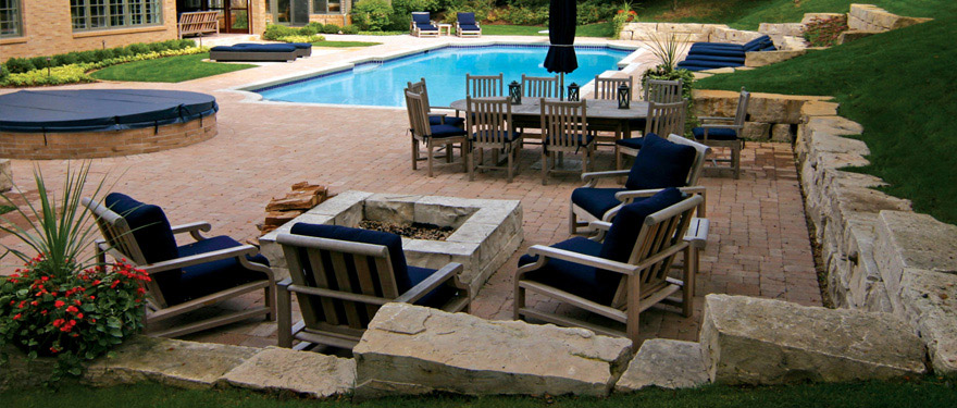 landscaping design with swimming pool in Minnesota