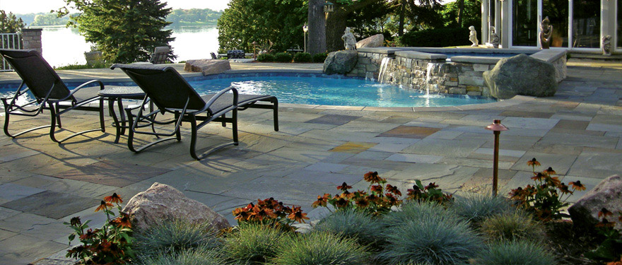 landscaping design with outdoor pool in Minnesota