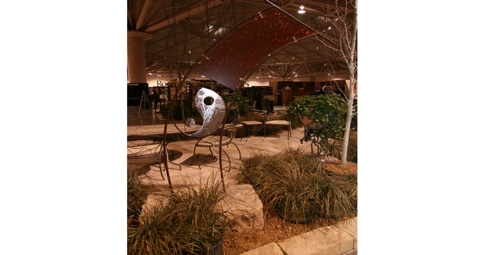 2010 Midwest Home Best Booth Award Metal Work