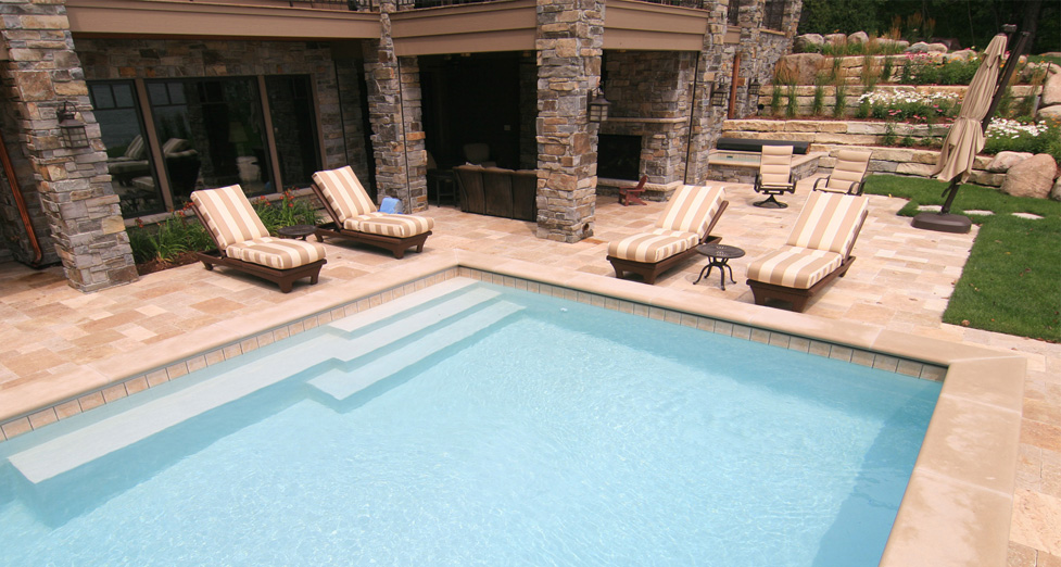 Detail in Custom Concrete Pool