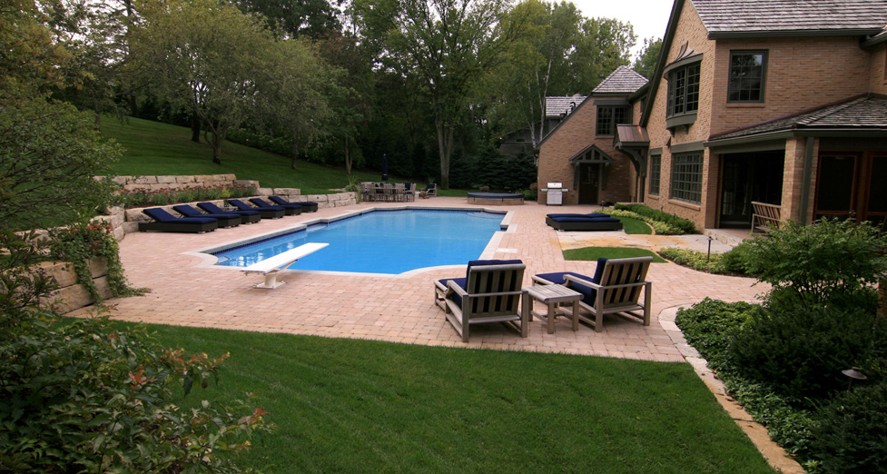 Finished Custom Pool and Patio Area