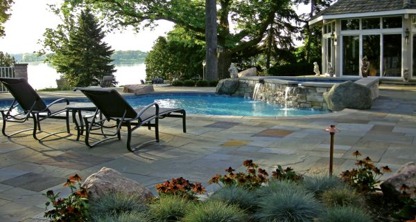 "This ""Redesigned Pool"" had an Existing Shell that We Carved Away at to Create This Beautiful Pool/Spa Combination."