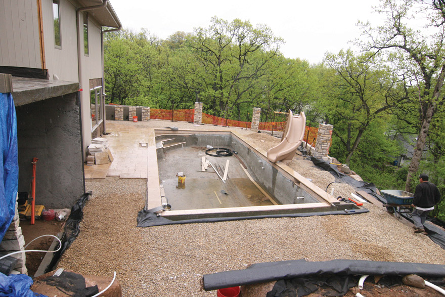 Edina MN Backyard Pool Construction