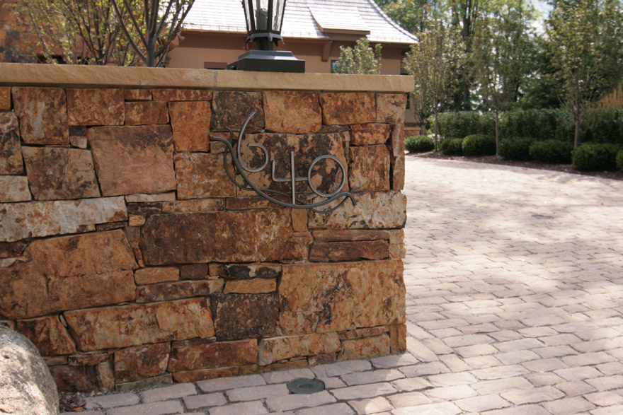 Custom Stone Wall in Wayzata, MN