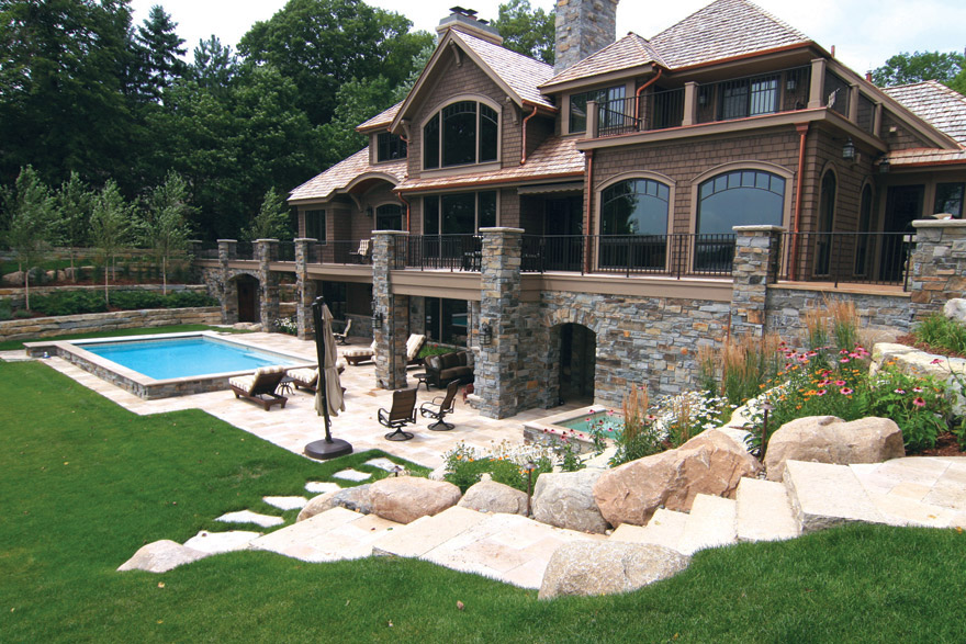 Landscape Design for Pool, Spa and Patio on Lake Minnetonka, MN