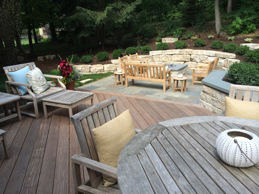 Minnetonka, MN Landscape Design Deck and Patio Makeover