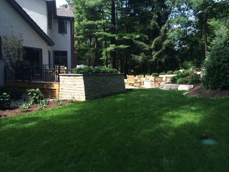 Minnetonka, MN Landscape Design Back Yard Makeover
