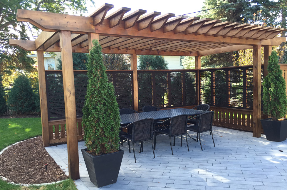 Paver Patio, Custom Cedar Wood Arbor