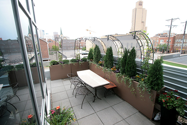 Rooftop Landscaping Minneapolis Metalsmiths Furniture
