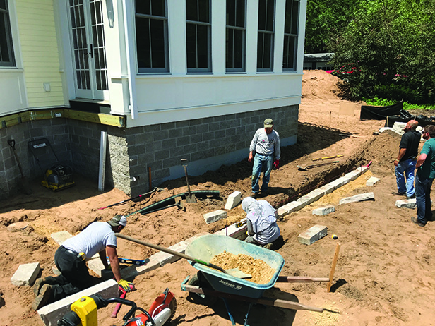 Historic Stillwater Minnesota Remodel Landscaping_Construction on Limestone Retaining Walls