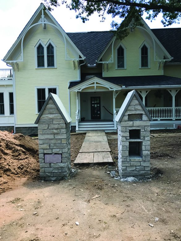 Historic Stillwater Minnesota Remodel Landscaping_Front Yard Mortared Post