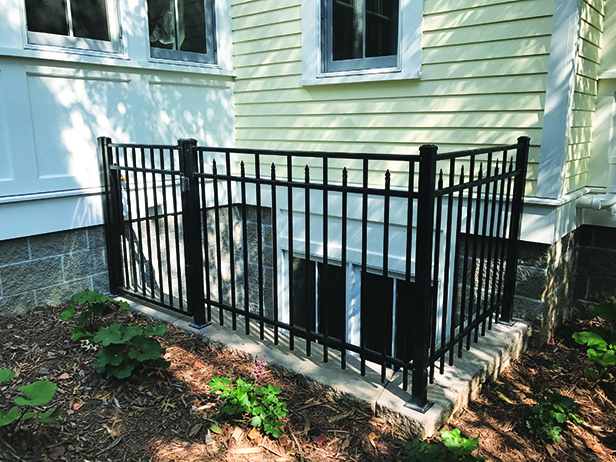 Historic Stillwater Minnesota Remodel Landscaping_Window Well Fencing