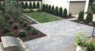 City Backyard Entertaining with Bluestone Patio Variety of Plantings and Grass Area