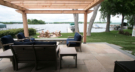 Raised Bluestone Patio Overlooking Lake Minnetonka