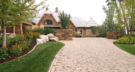 Wayzata Minnesota New Construction with Paver Driveway and Stone Retaining Walls