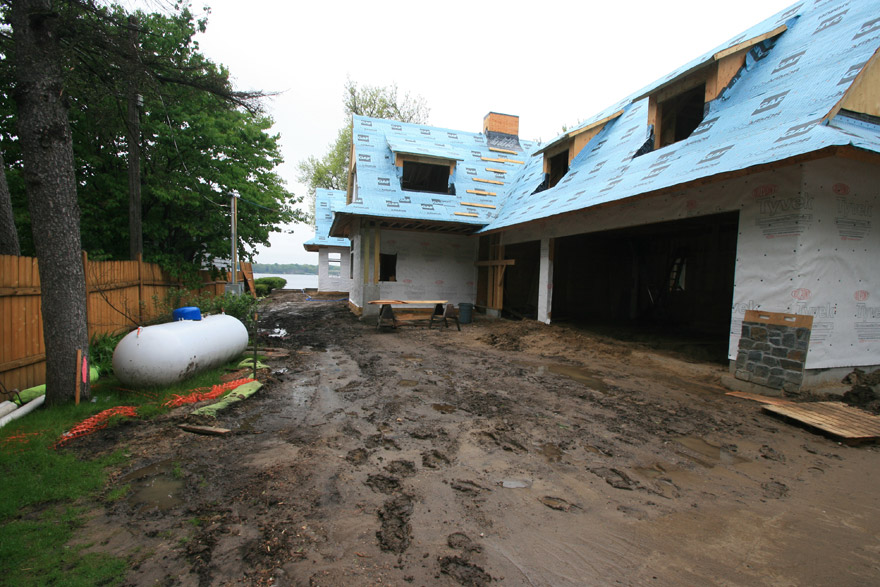 Garage with Future Paver Driveway