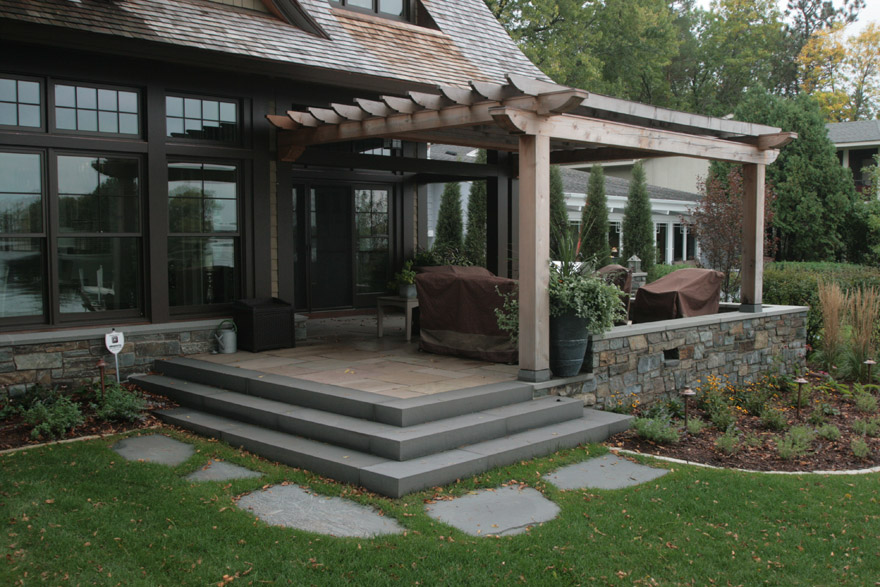 Laurel Stone Terrace with Bluestone Steps