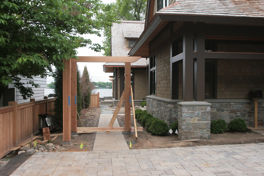 Installation of Custom Cedar Arbor