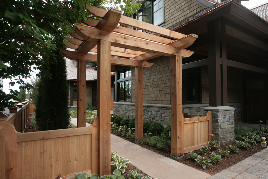 Custom Cedar Arbor and Fence