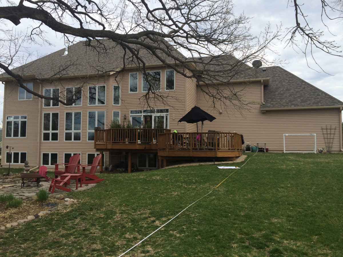 Before image showing back of house in Eden Prairie