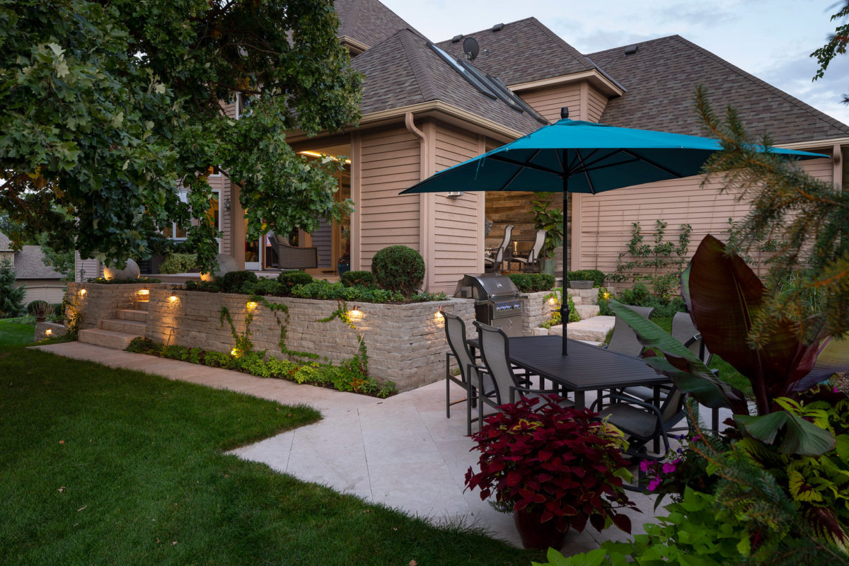 Patio Area View to Screen Porch in Eden Prairie