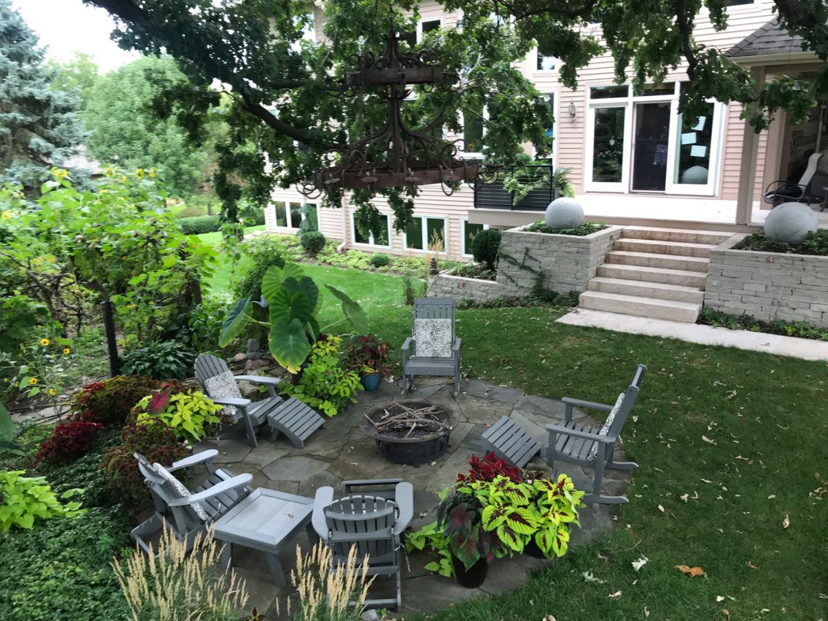 Bluestone Flagstone Patio and Fire Pit Installed in Eden Prairie