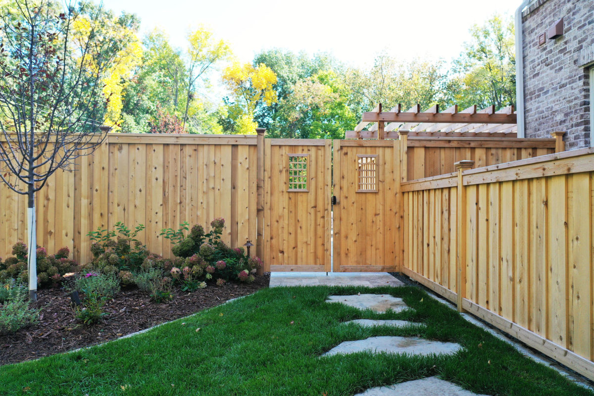 Edina, MN Wood Privacy Fence and Gate