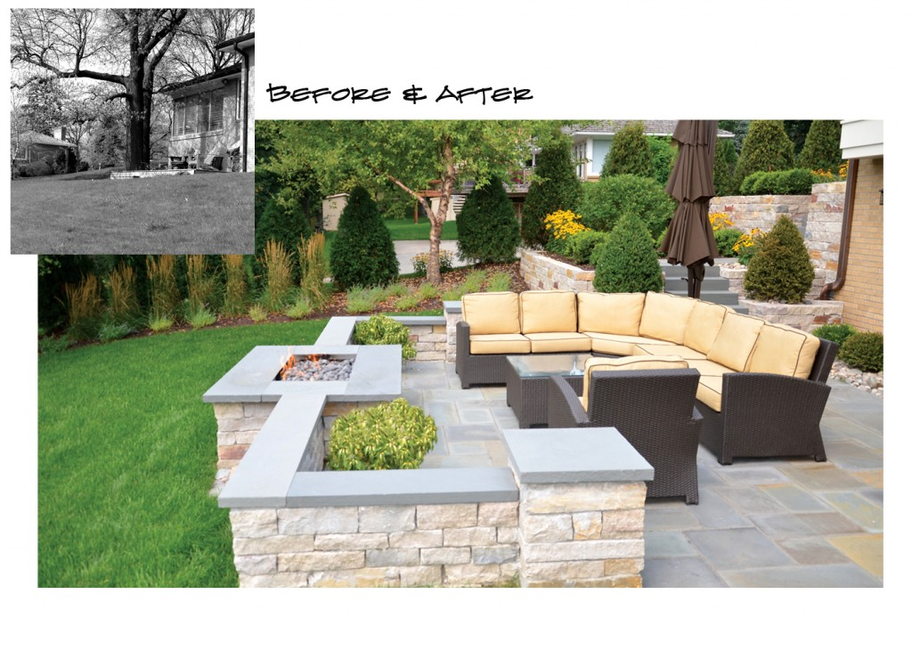 Before and After backyard transformation in Edina, MN