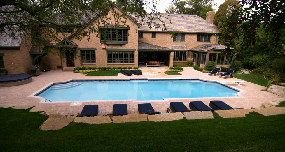 Completed In-Ground Swimming Pool and Patio Area