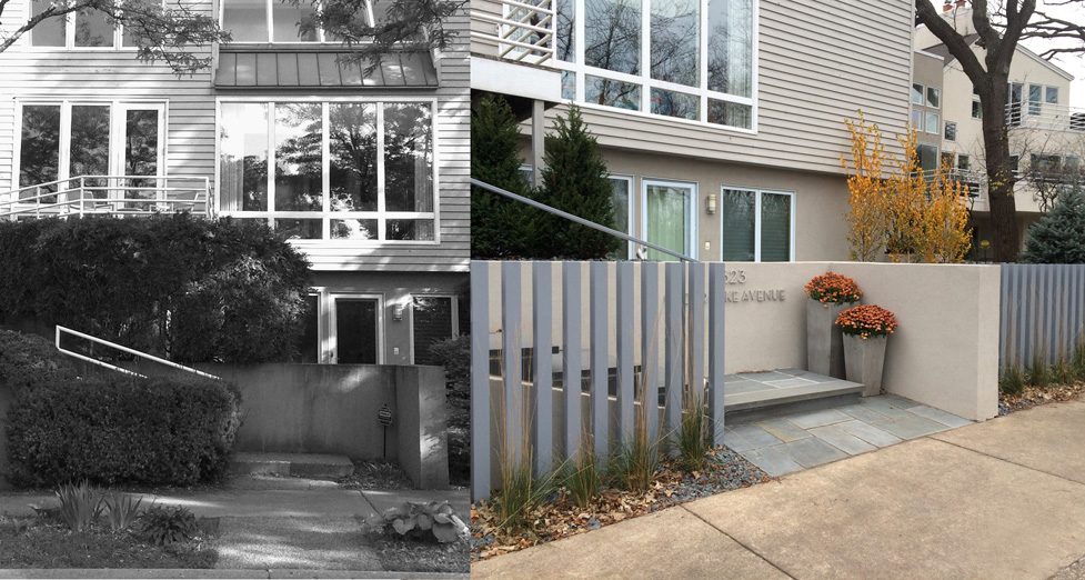 Contemporary Remodel with Custom Metal Fence and Bluestone Patio