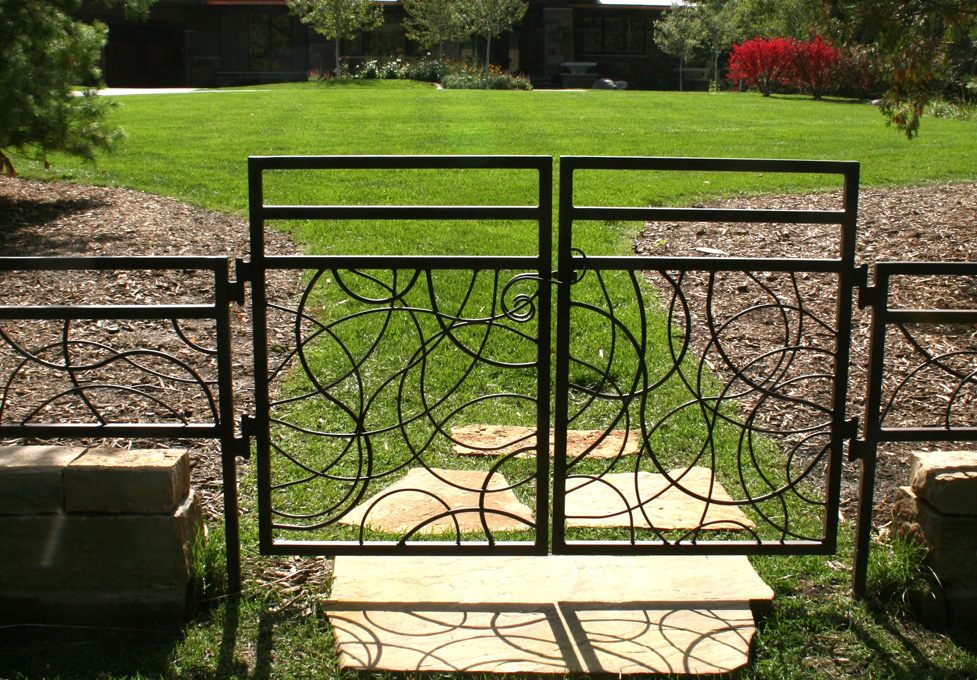 Custom Metal Gate and Fencing on Limestone