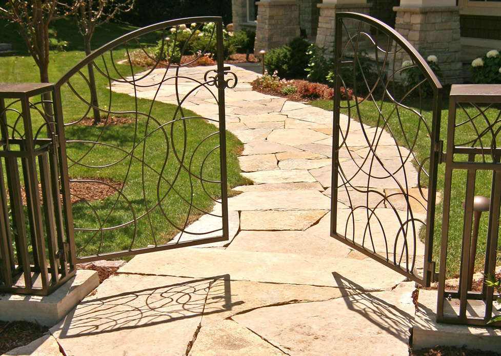 Custom Metal Gates on Limestone