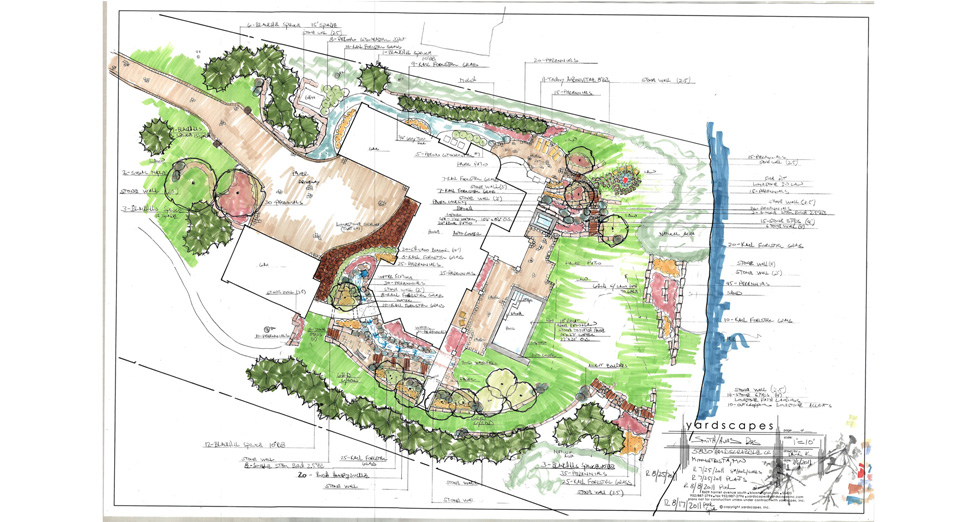 Landscape Design for New Construction Project on Lake Minnetonka.