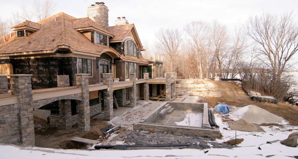 New Construction Project on Lake Minnetonka.
