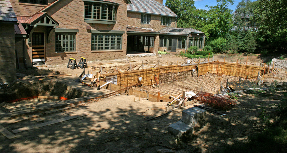 Pool Framing and Preparation