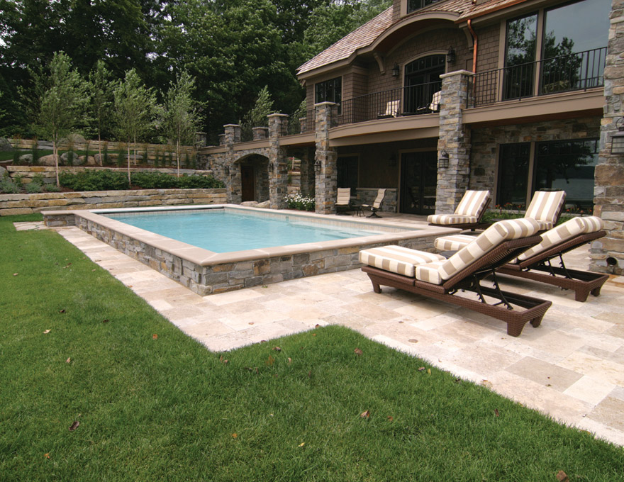 Minnetrista, MN Pool and Backyard Landscape