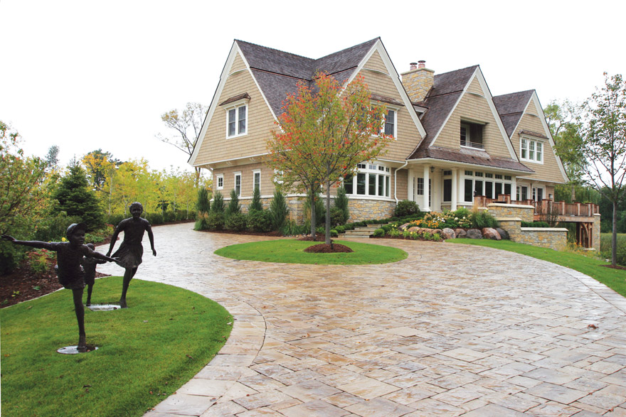 Driveway, Front Entrance Design in Grays Bay, Wayzata, MN