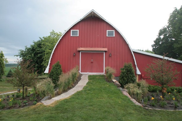 Barn Landscaping and Path