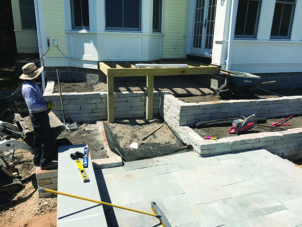 Historic Stillwater Minnesota Remodel Landscaping_Backyard Wood Deck Installation