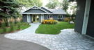 Lake Minnetonka Cabin with New Landscape Front Entry with Paver Walkway and Driveway Apron