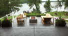 Lake Minnetonka Entertaining with Gas Firepit, Westminster Teak Furniture, and Gardenstone Planters
