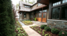 Lake Minnetonka Front Entry Landscape with Limestone Tiles and Stone Steps