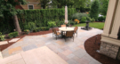Minneapolis Minnesota Backyard Remodel a Cut Bluestone Patio