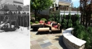Small Edina Minnesota remodel with bluestone patio and mortared limestone seating wall