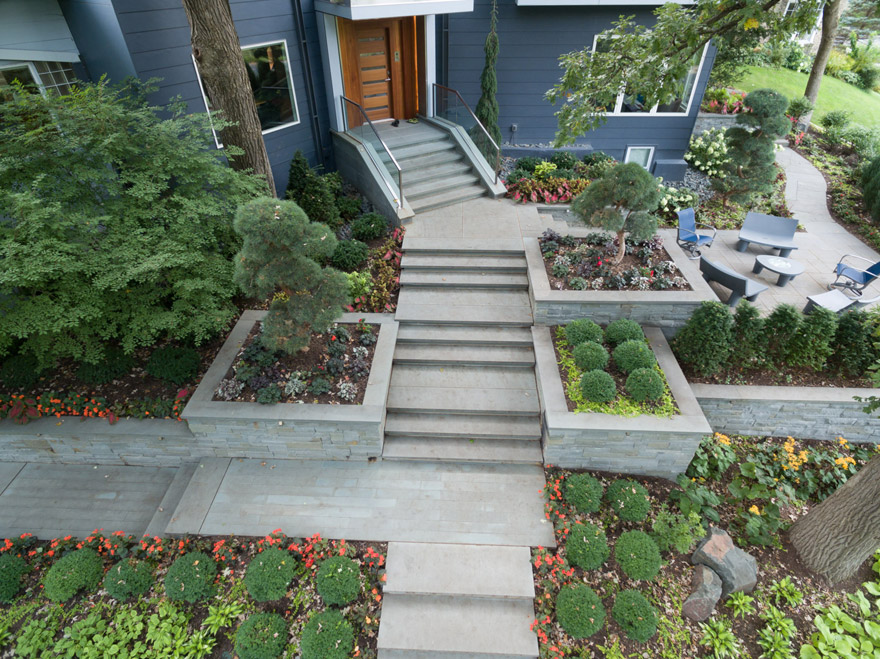 High Quality Completed Front Entry Landscape And Hardscape
