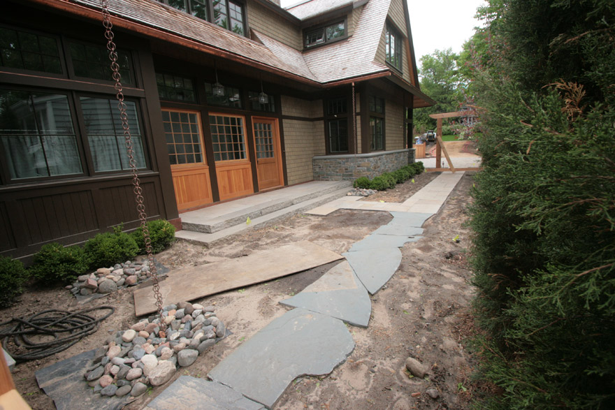 Front Walkway with Sandstone