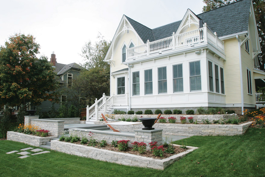 Landscape Design and Construction for Historic Home in Stillwater, MN