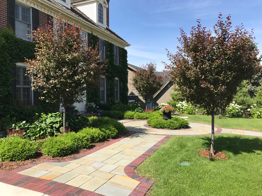 Landscaping from the Driveway to the Front Door