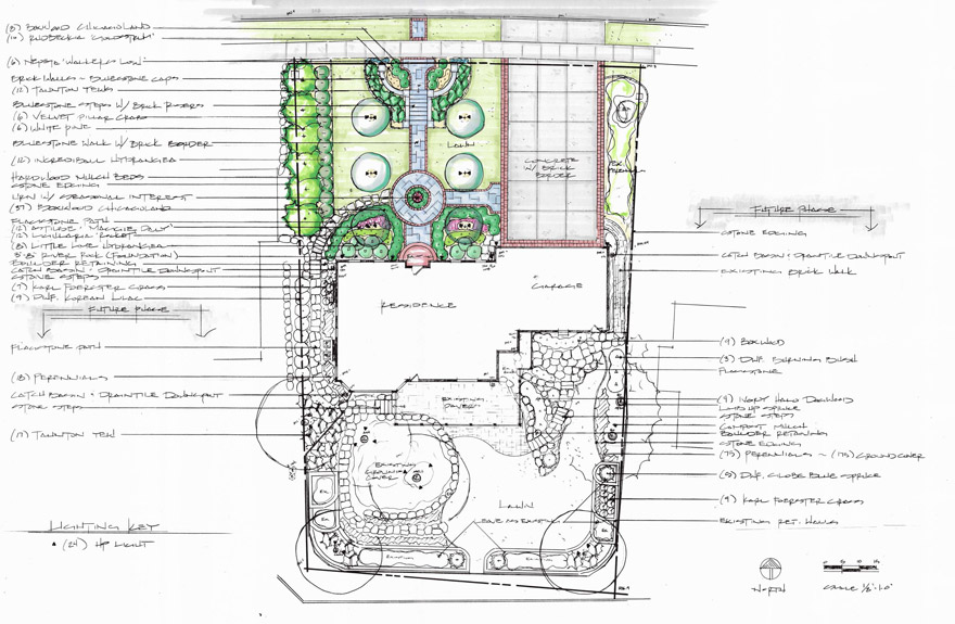 Colonial Makeover in Bloomington, MN Landscape Design Plan